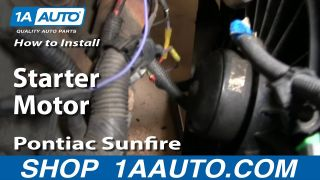 How to Replace Starter 96-98 Pontiac Sunfire