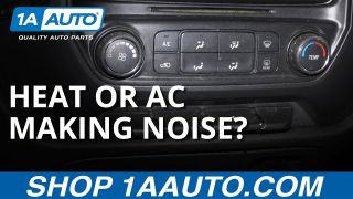 Car Air Conditioning or Heat Rattling or Grinding Simple Fix