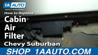 How to Replace Cabin Air Filter 00-02 Chevy Suburban