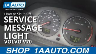 How To Shut Off Service Reminder Message Light 99-07 Volvo V70