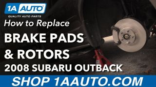 How to Replace Front Brake Pads & Rotors 04-09 Subaru Outback