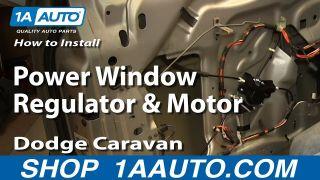 How to Replace Window Regulator 01-03 Dodge Grand Caravan