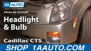 How To Replace Headlight and Bulb 03-07 Cadillac CTS