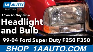 How to Replace Headlights 99-04 Ford F250 Super Duty