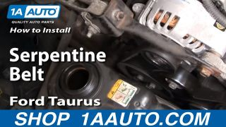 How To Replace Serpentine Belt 01-05 Ford Taurus 3.0L V6