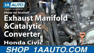 honda civic civic del sol exhaust manifold catalytic converter assembly diy solutions