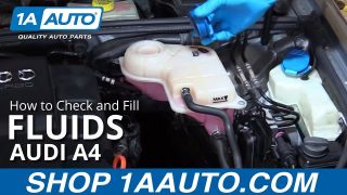 How to Check and Fill Fluids 04-09 Audi A4