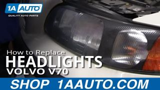 How To Replace Headlights 01-04 Volvo V70
