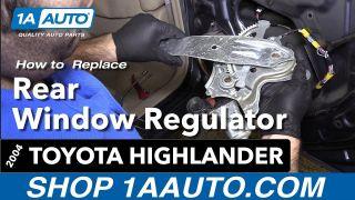 How to Replace Rear Window Regulator 00-07 Toyota Highlander