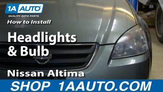 How to Replace Headlight 02-04 Nissan Altima