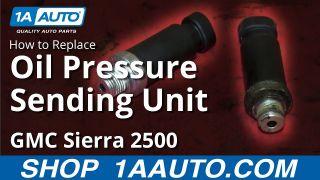 how to replace oil pressure sender 01-02 gmc sierra 2500