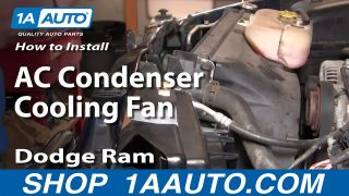 1AACF00104-Dodge Ram 1500 2500 3500 A/C Condenser Cooling Fan Assembly