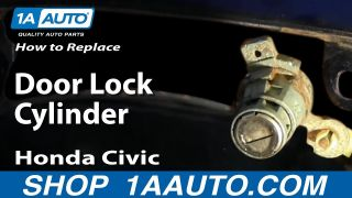How to Replace Door Lock Cylinder 03-05 Honda Civic
