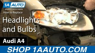 How To Replace Headlights and Bulbs 05-08 Audi A4