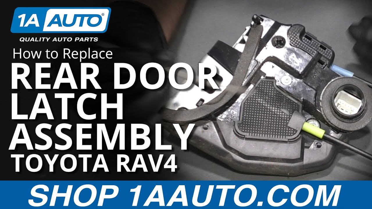 How to Replace Rear Door Latch Assembly 06-12 Toyota RAV4