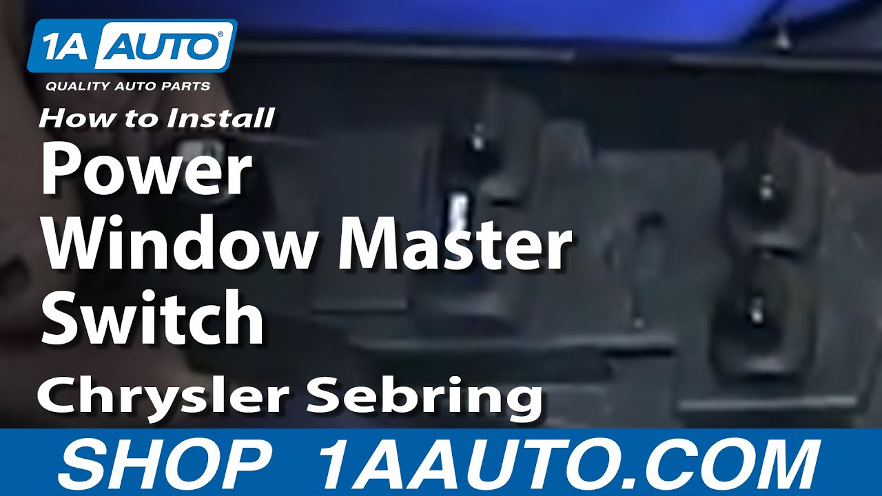 How to Replace Power Window Switch 01-04 Chrysler Sebring