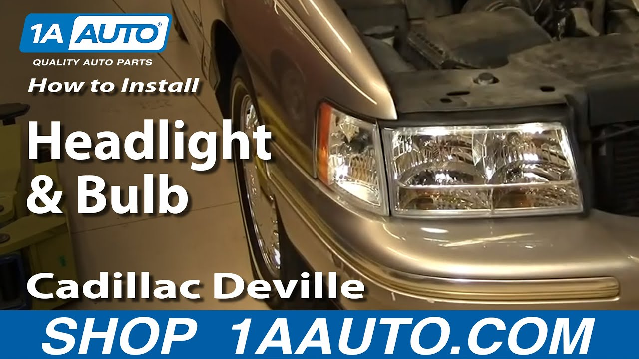 How to Replace Headlight and Bulb 97-99 Cadillac Deville