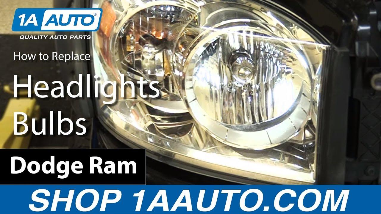 How to Replace Headlights & Bulbs 06-08 Dodge Ram