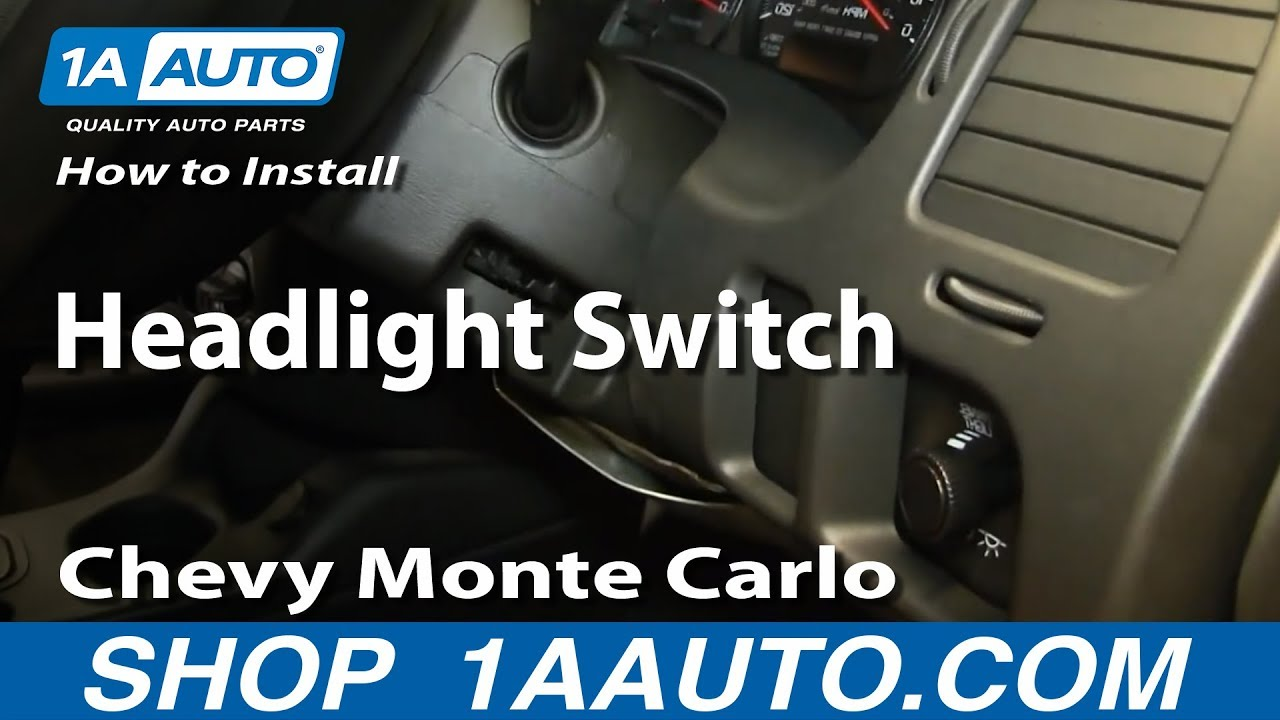 How to Replace Headlight Switch 00-05 Chevy Monte Carlo