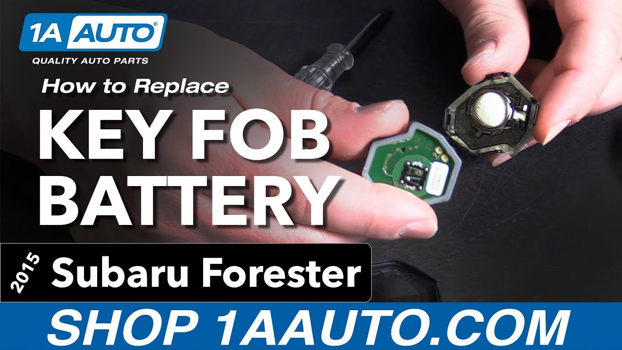 How to Replace Key Fob Battery 13-18 Subaru Forester