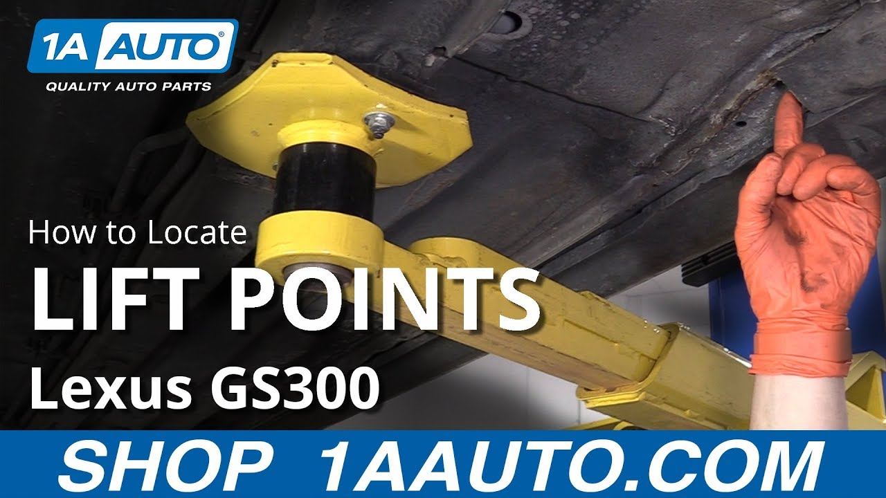 How to Locate Lift Points 97-05 Lexus GS300