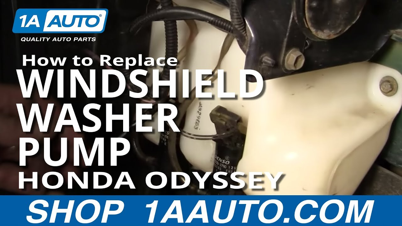 How to Replace Windshield Washer Pump 99-04 Honda Odyssey