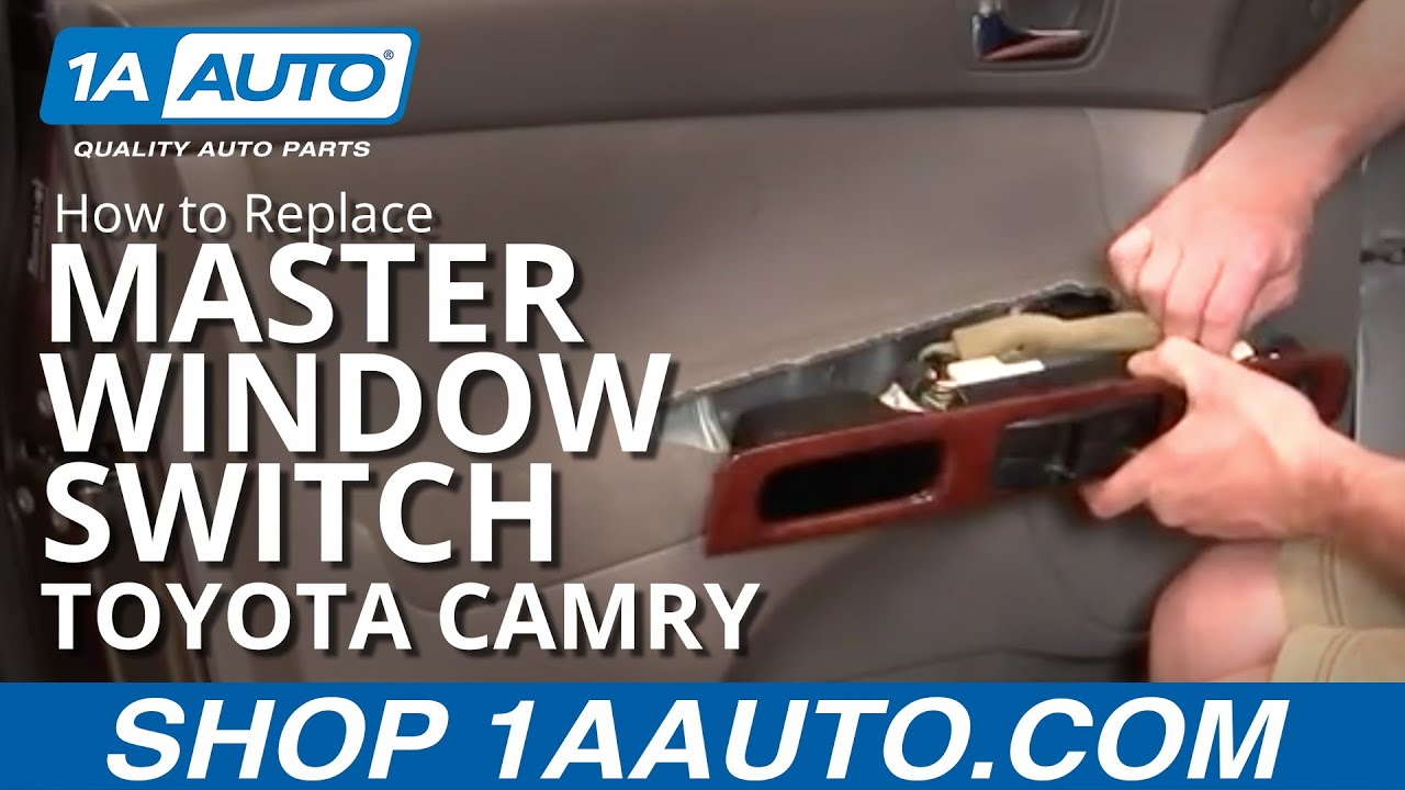 How to Replace Master Window Switch 02-06 Toyota Camry