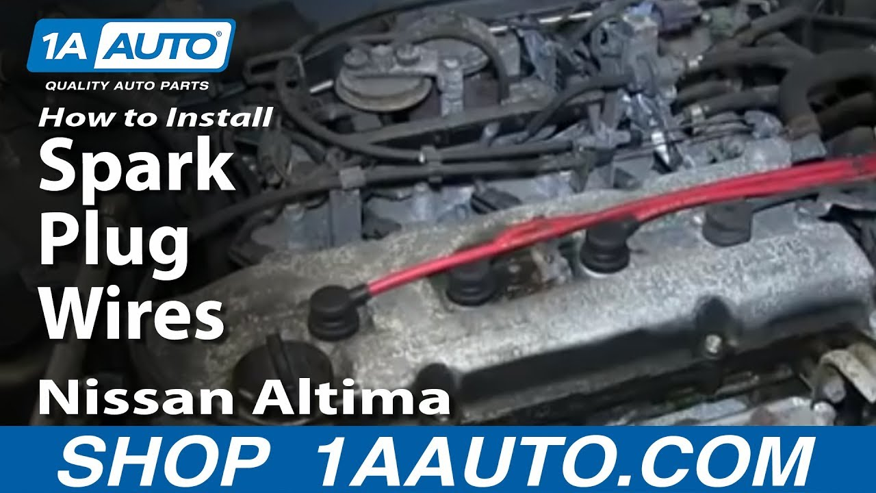 How to Replace Spark Plugs Wires 97-01 Nissan Altima