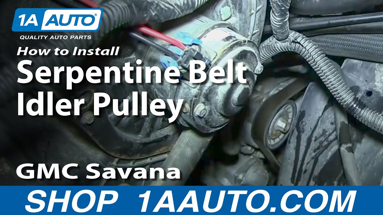 How to Replace Serpentine Belt Idler Pulley 96-08 GMC Savana