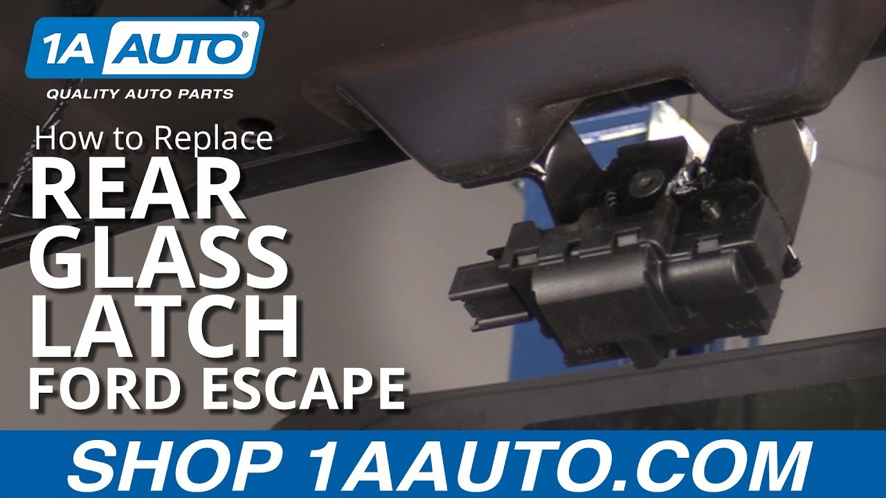 How to Replace Rear Glass Latch 08-12 Ford Escape