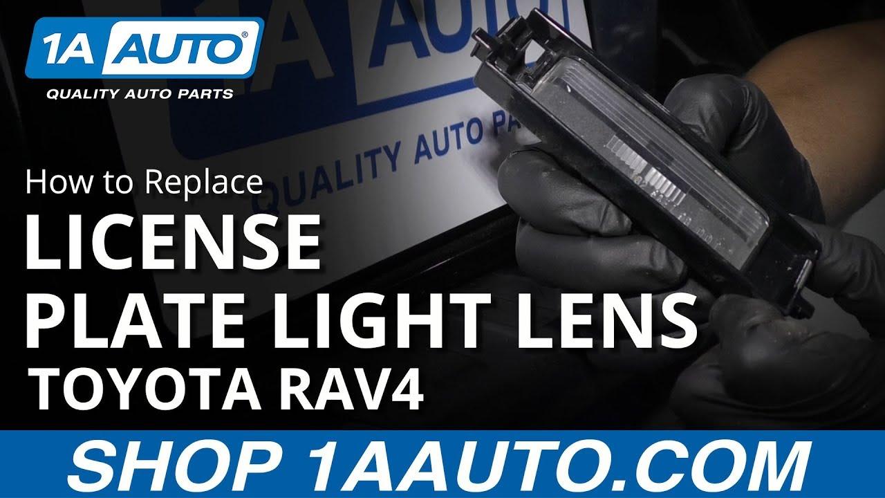 How to Replace License Plate Light Lens 05-16 Toyota RAV4