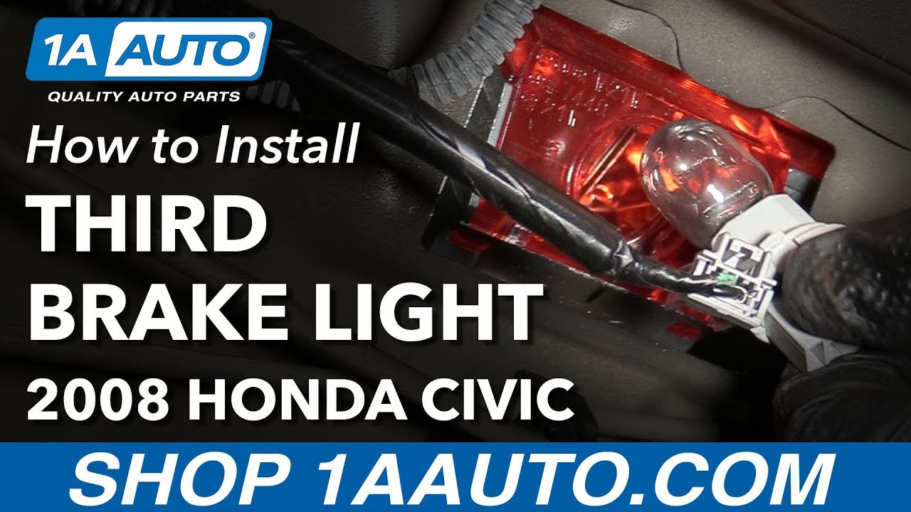 How to Replace Third High Mounted Brake Stop Light Bulb 05-11 Honda Civic