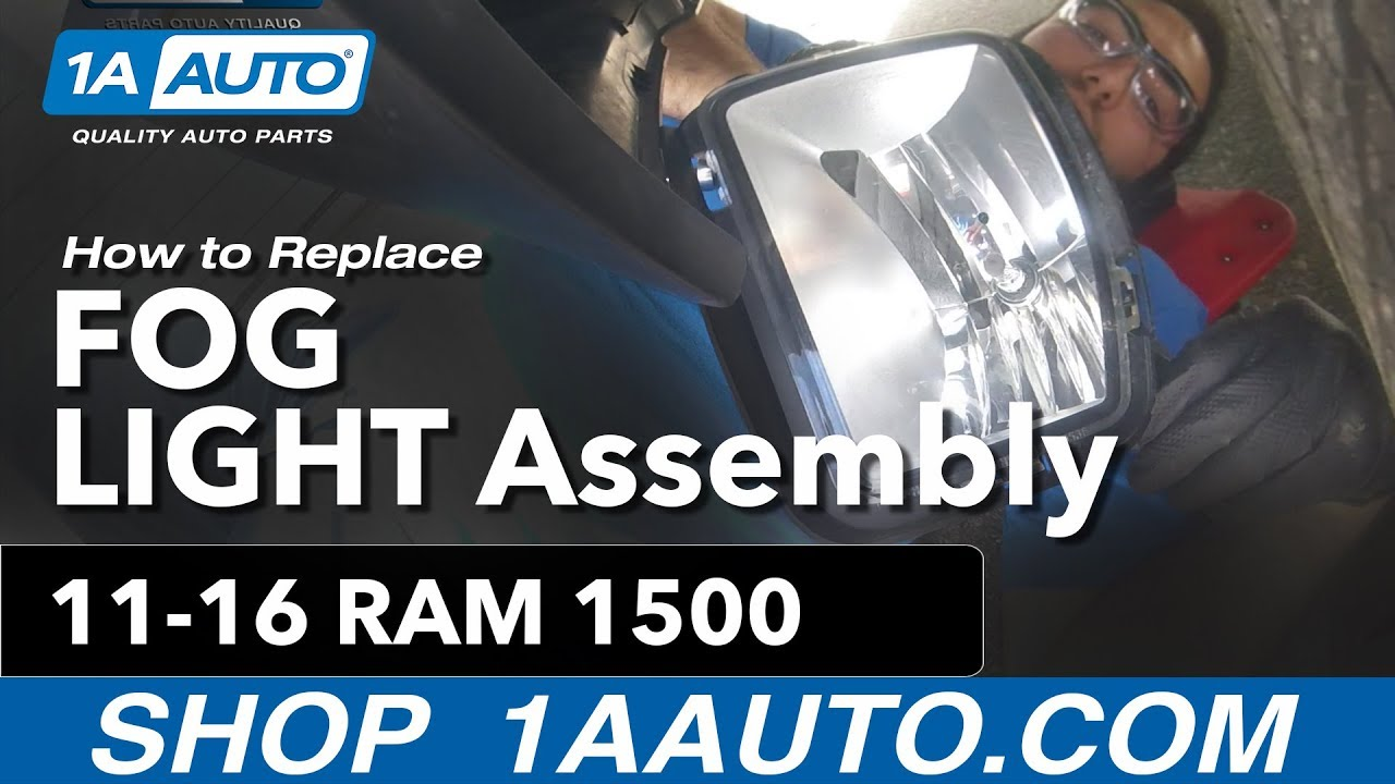 How to Replace Fog Light Assembly 13-17 Ram 1500