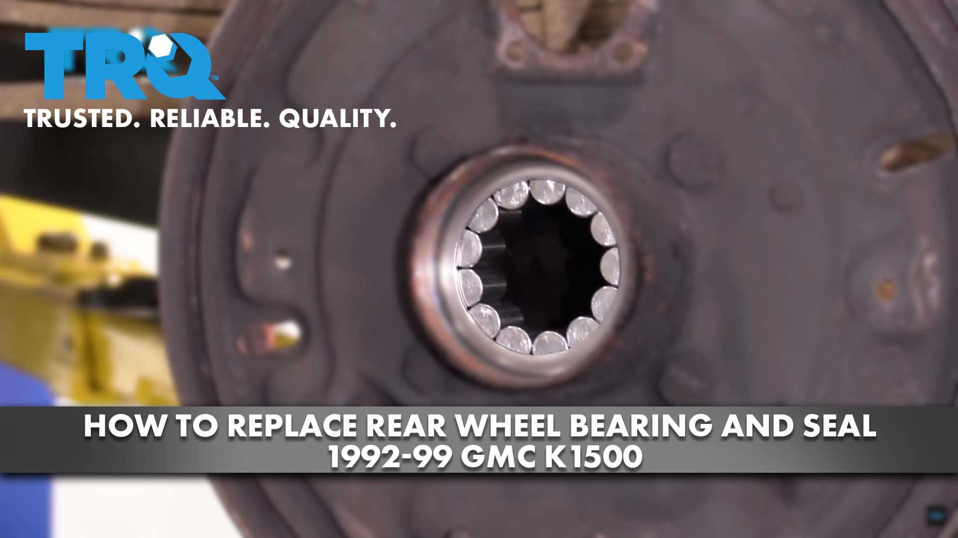 How To Replace Rear Wheel Bearing and Seal 1992-99 GMC K1500