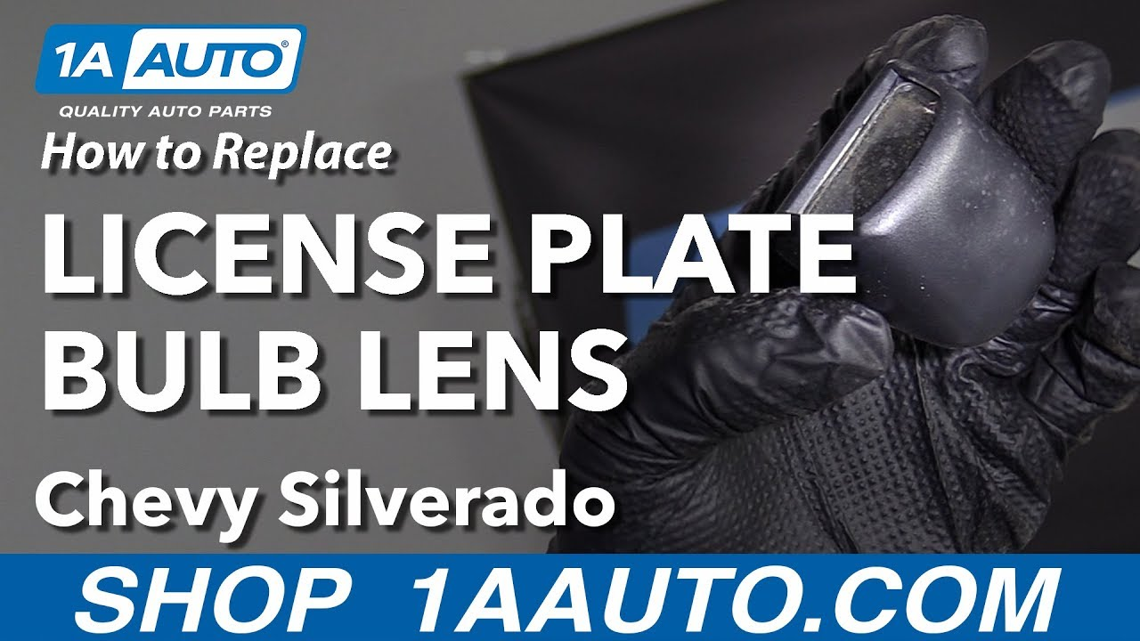 How to Replace License Plate Bulb Lens 07-13 Chevy Silverado