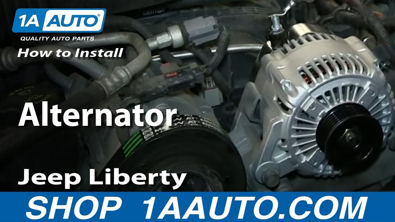 How To Replace Alternator 04-07 Jeep Liberty