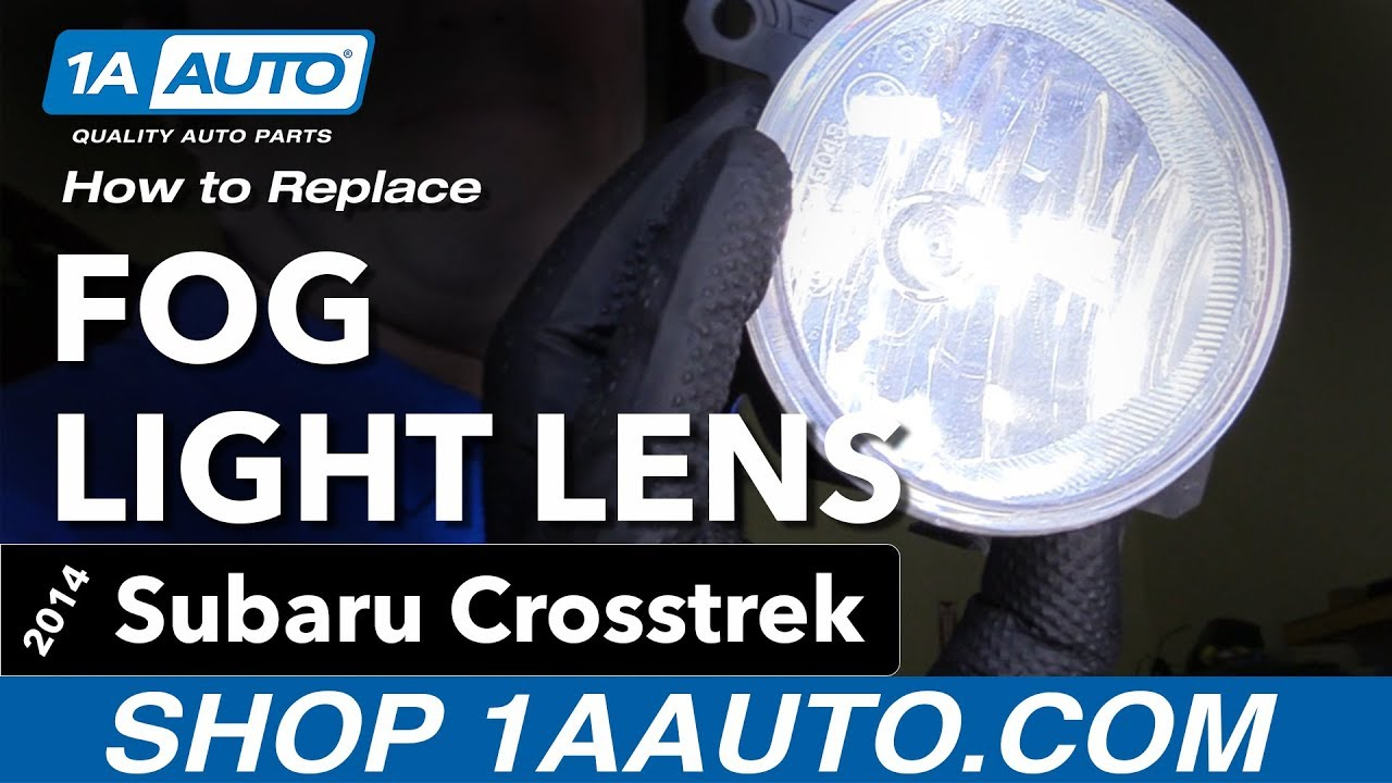 How to Replace Fog Light Lens 14-17 Subaru Crosstrek