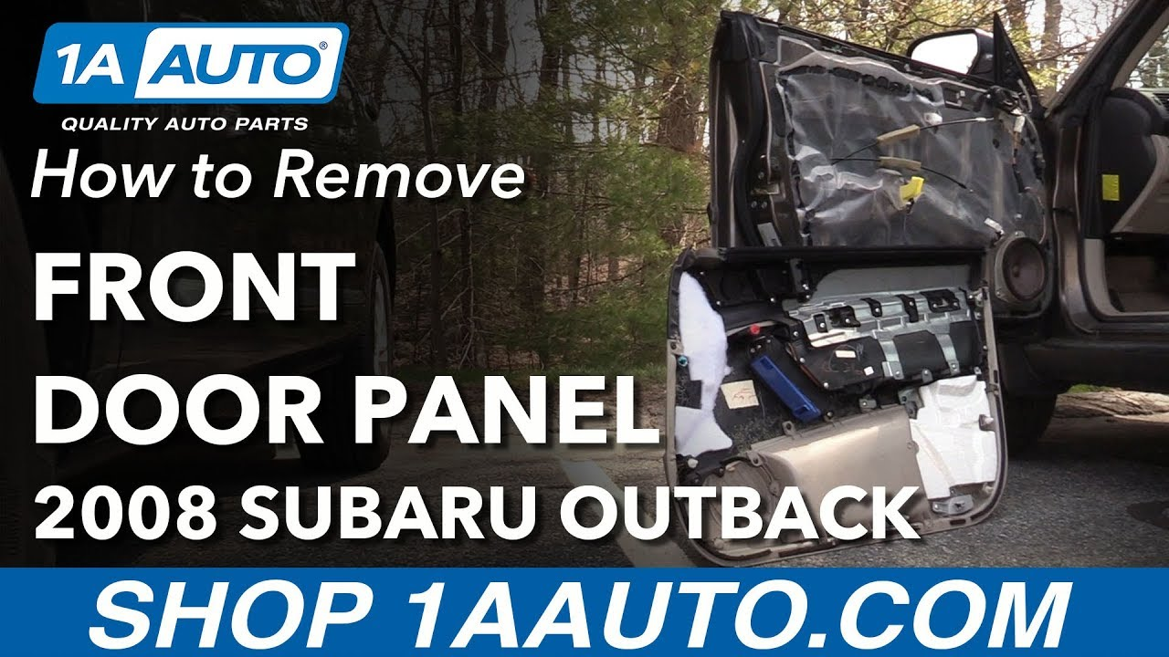 How to Remove Front Drivers Side Door Panel 04-09 Subaru Outback