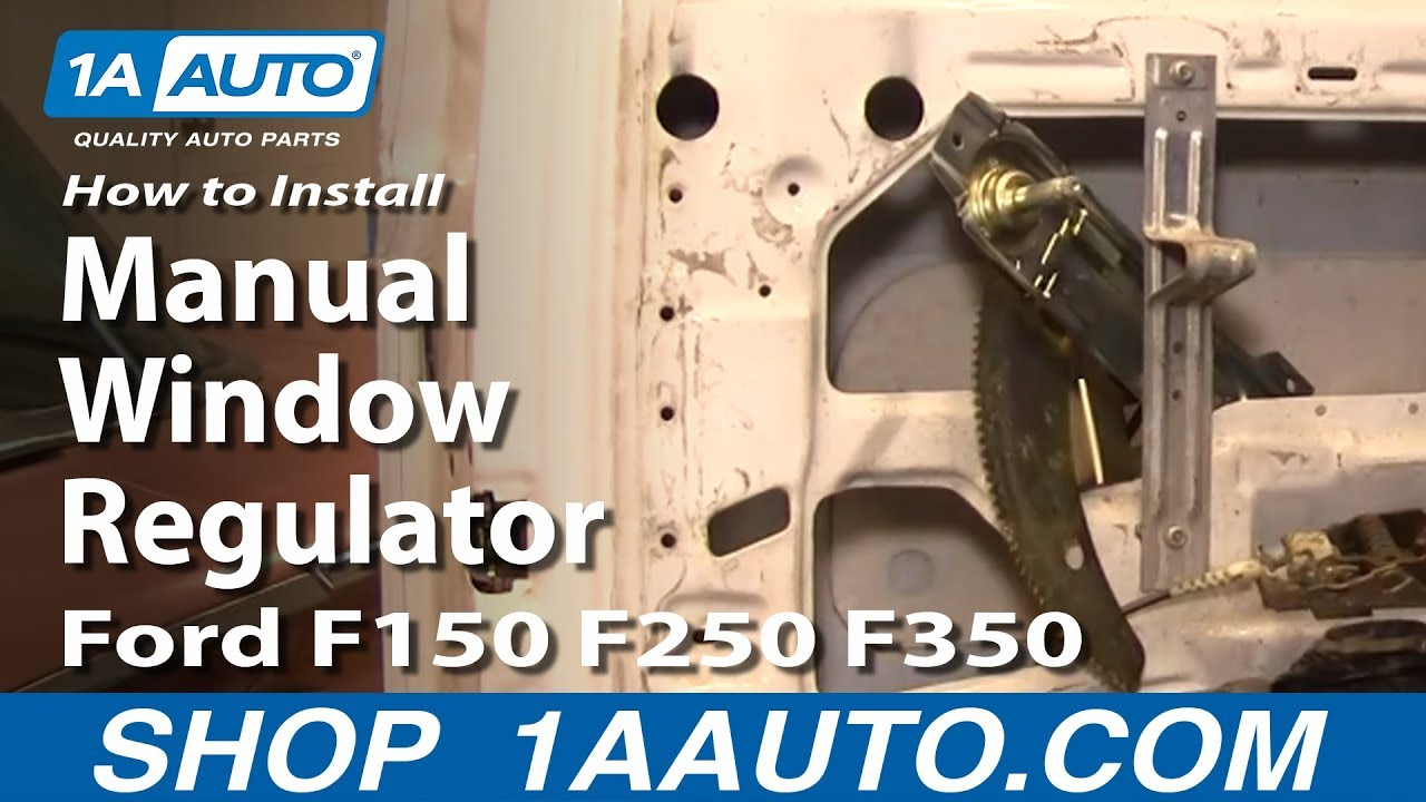 How To Replace Manual Window Regulator 80-96 Ford F150250350