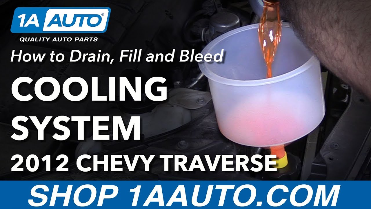 How to Drain Fill and Bleed Coolant Cooling System 09-17 Chevy Traverse