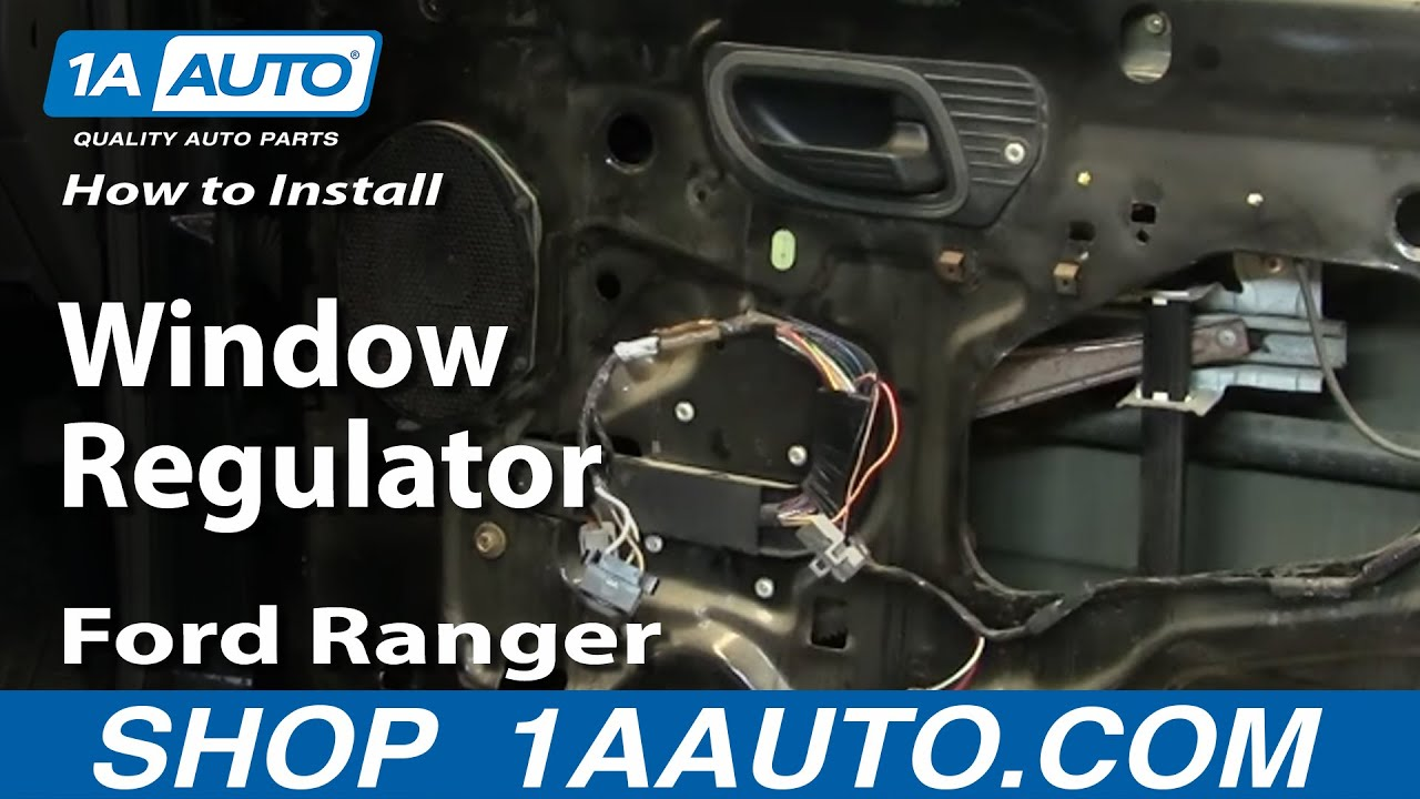 How to Replace Window Regulator 93-11 Ford Ranger
