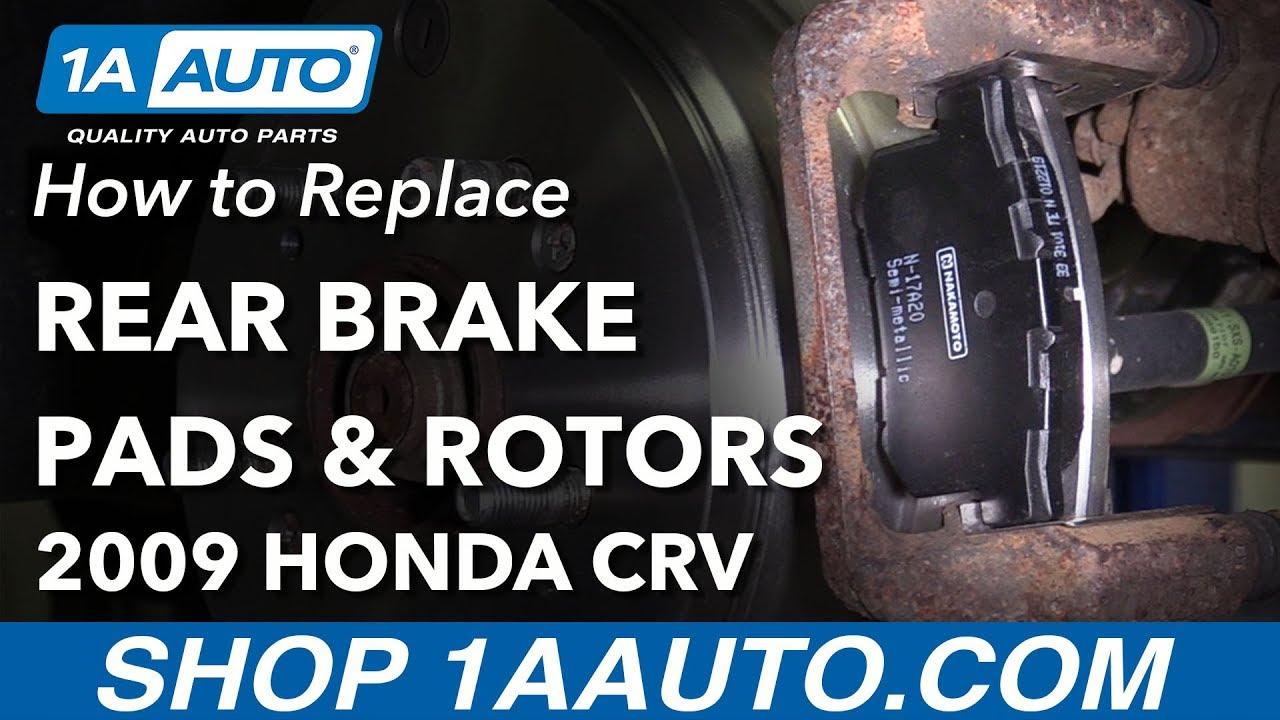 How to Replace Rear Brakes 07-11 Honda CR-V