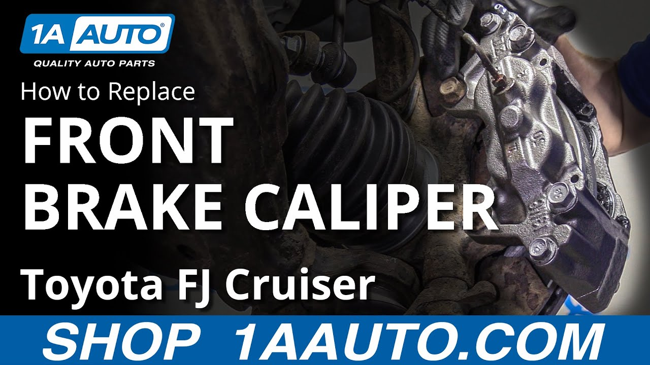 How to Replace Front Caliper 07-14 Toyota FJ Cruiser