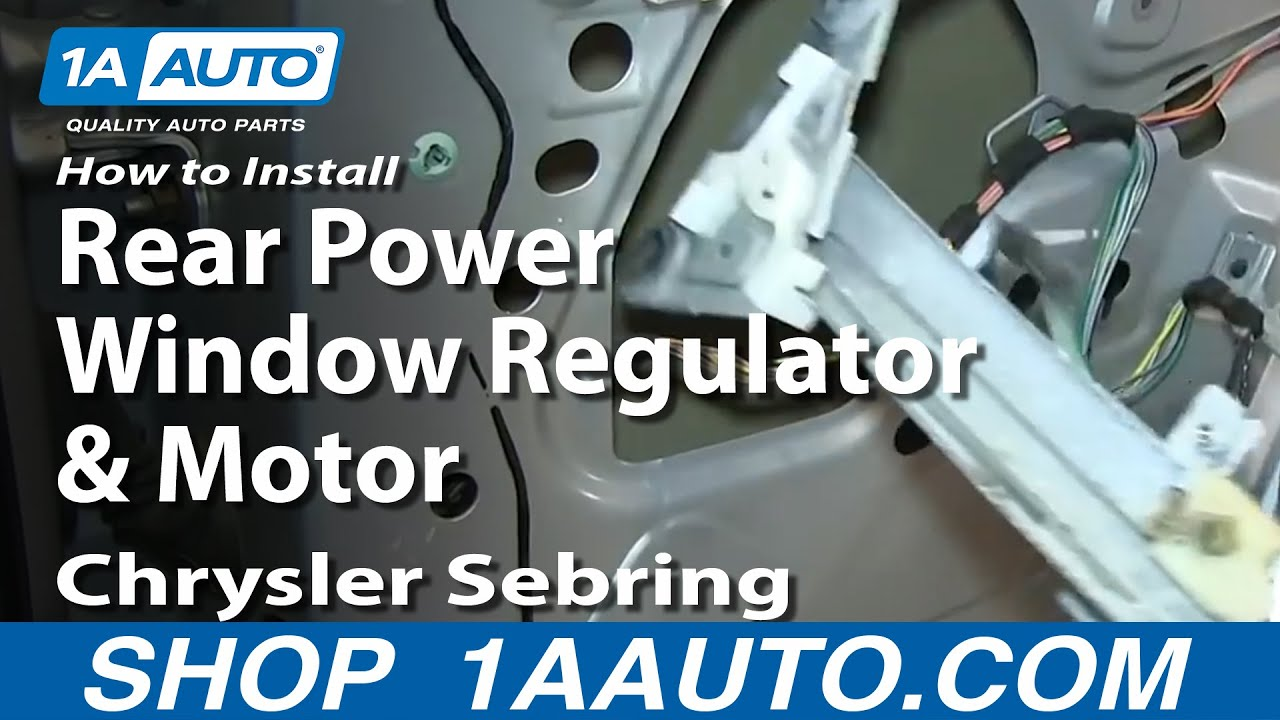 How to Replace Window Regulator 01-06 Chrysler Sebring