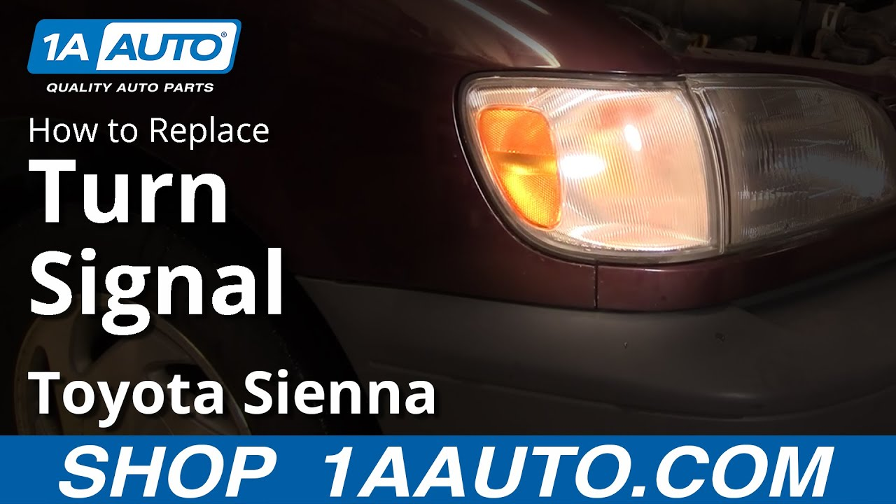 How to Replace Turn Signal 98-00 Toyota Sienna