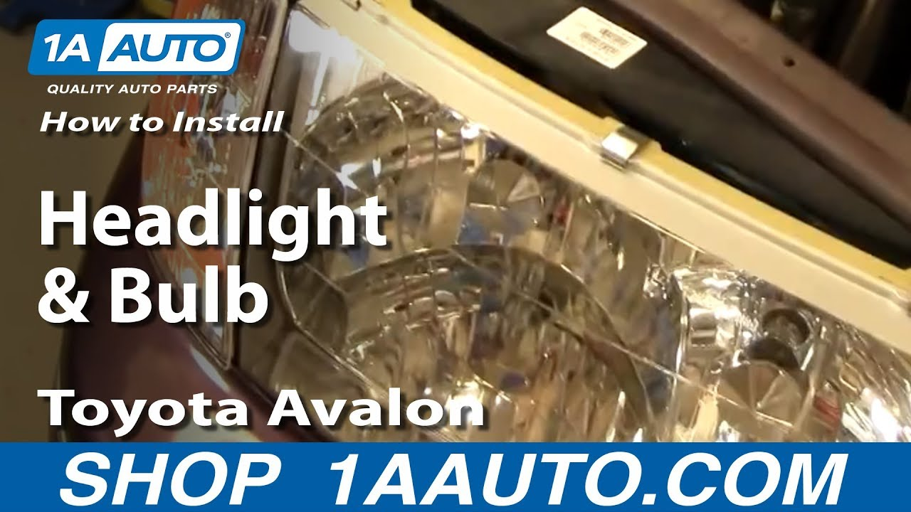 How to Replace Headlight 98-99 Toyota Avalon