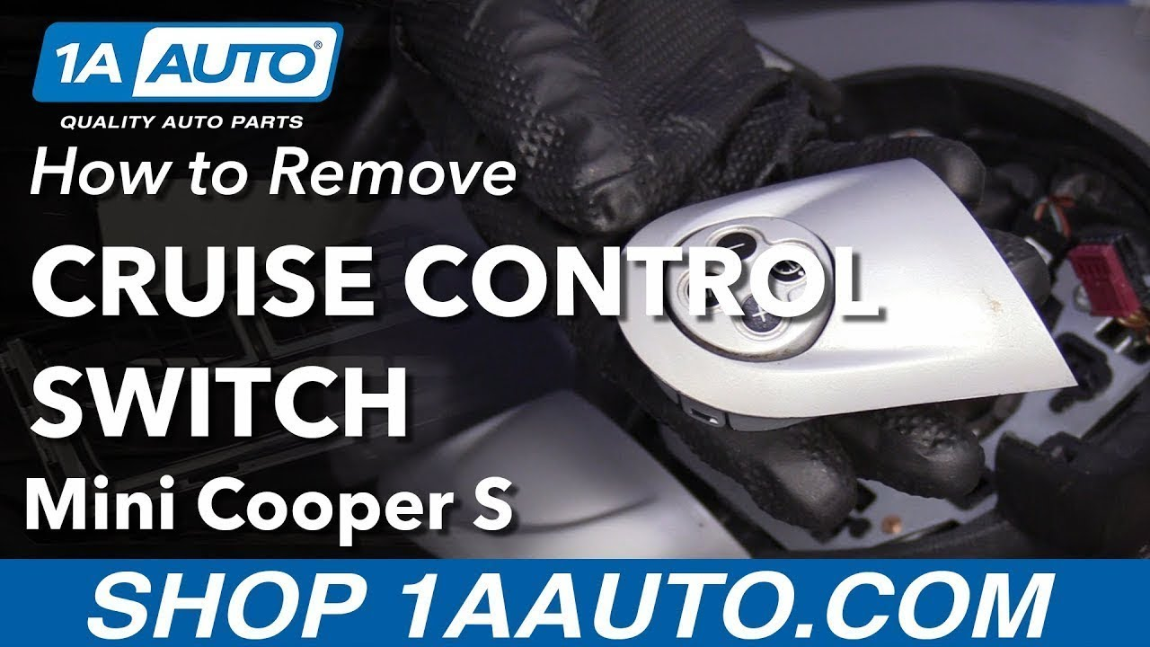 How to Remove Cruise Control Switch 07-11 Mini Cooper S