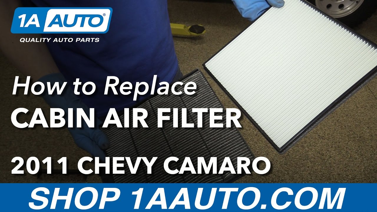 How to Replace Cabin Air Filter 10-15 Chevy Camaro