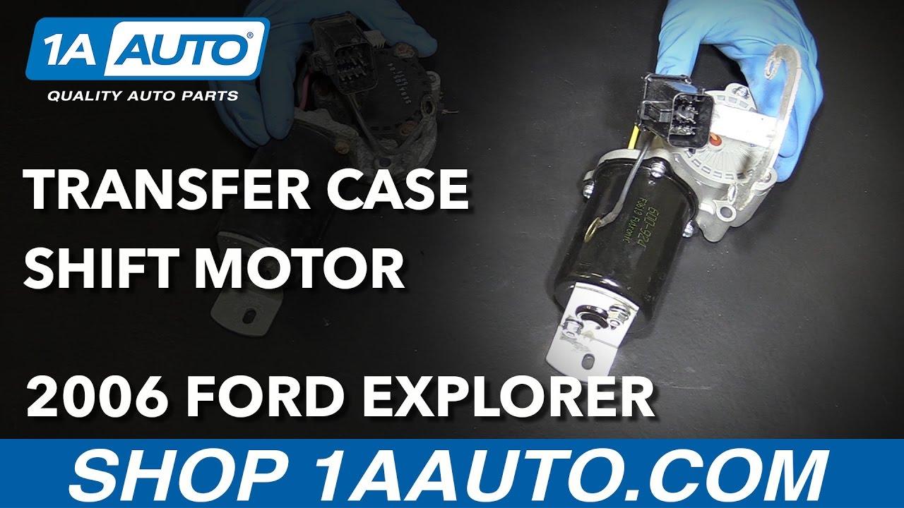 How to Install Transfer Case Shift Motor 06-10-07 Ford Explorer