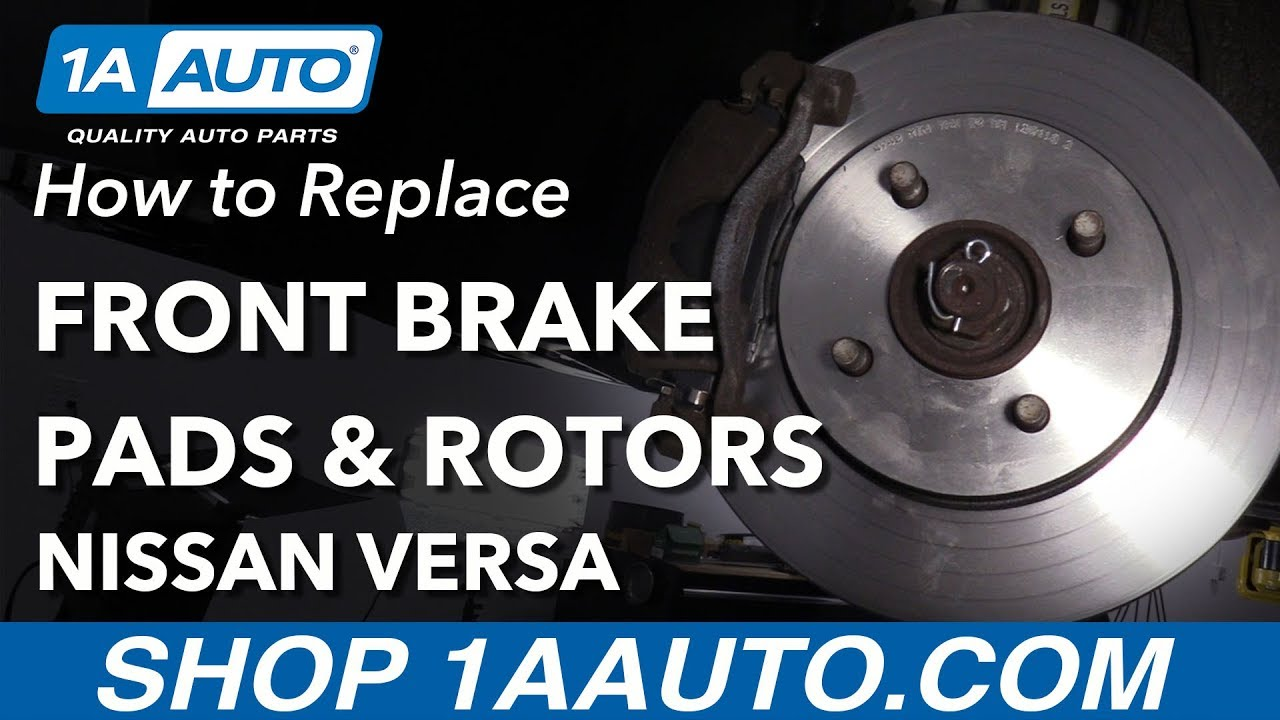 How to Replace Front Brake Pads & Rotors 12-19 Nissan Versa